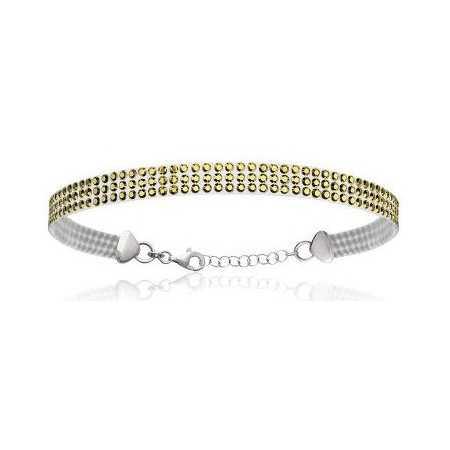 Bracelet argent pavage de cristal vert tendre