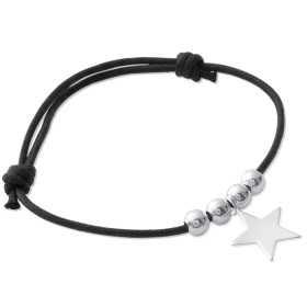 Bracelet argent breloque étoile de 14 mm
