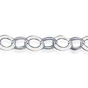 Bracelet argent façont maille forçat ronde de 3 mm