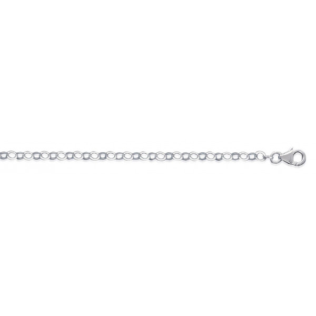 Bracelet argent façont maille forçat ronde de 3 mm - 1