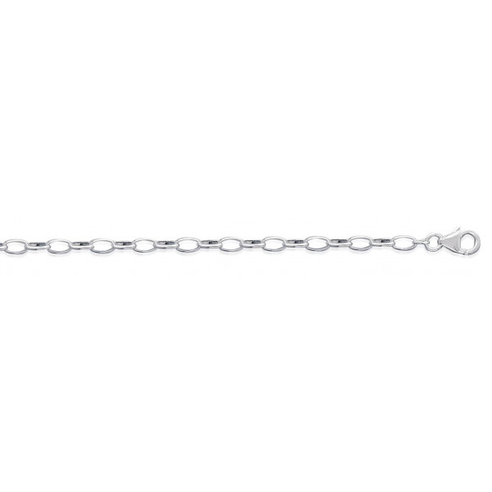 Bracelet argent façont maille forçat étirée de 3 mm -1