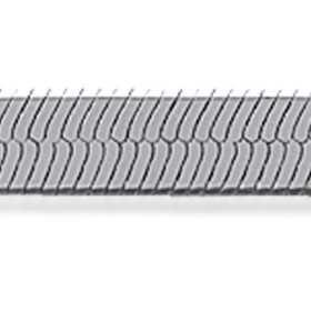 Collier argent maille mue de serpent plate de 4 mm