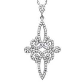 Collier argent motif style 1800