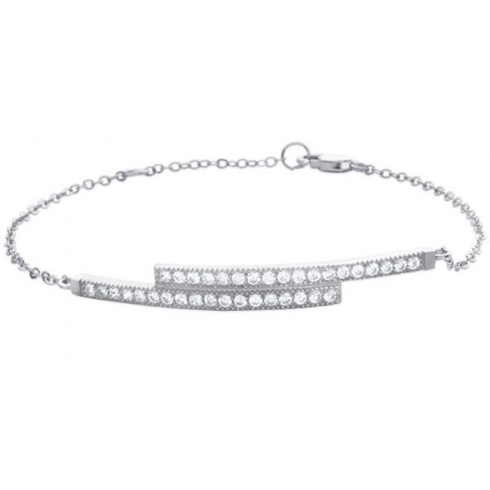 bracelet argent et zirconium