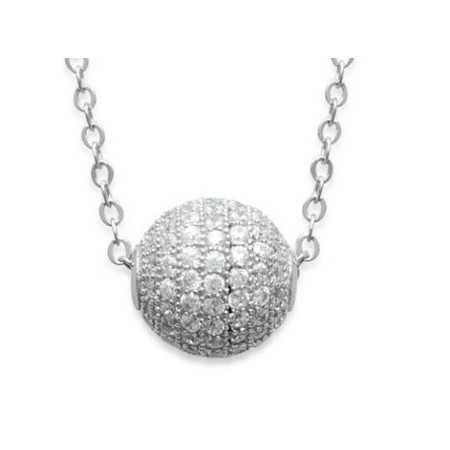 Collier argent sphère de 9 mm