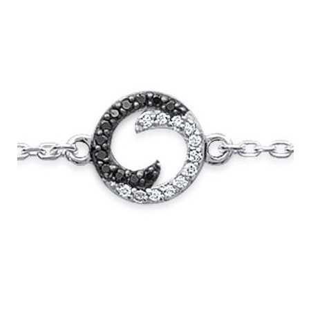 Bracelet argent ying et yang modernisés