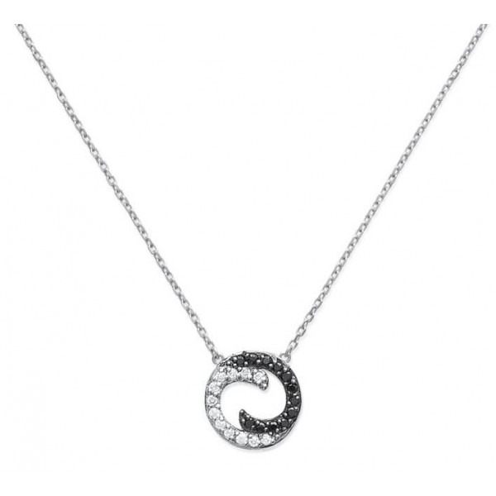 Collier argent ying et yang