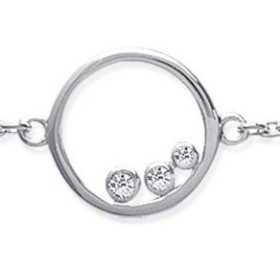 Bracelet argent oxydes de zirconium
