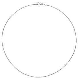 Collier argent maille omega ronde de 1 mm - 45 cm