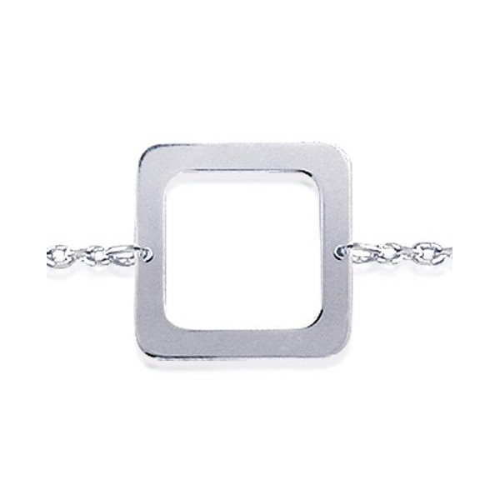 Bracelet argent motifs carrés de 14 mm