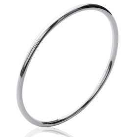 Bracelet jonc argent tube de 3 mm