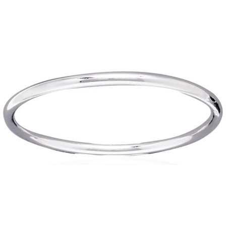 Bracelet jonc argent tube de 4 mm