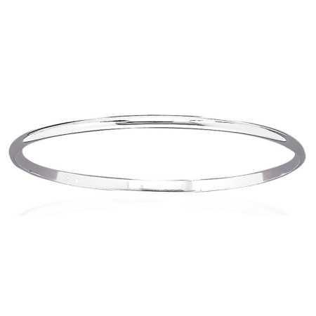 Bracelet jonc argent fil demi-rond de 3 mm