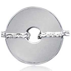 Bracelet argent 1 disque percé de 15 mm