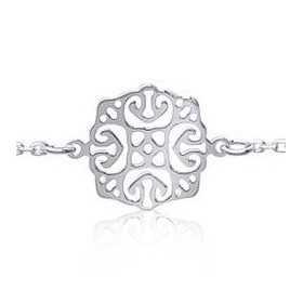 Bracelet argent motif style charleston de 14 mm
