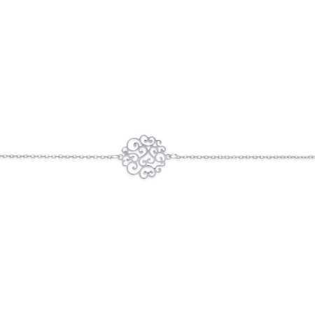 Bracelet argent enchevêtrement d'arabesques de 15 mm