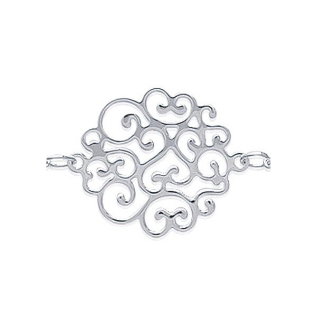 Collier argent enchevêtrement d'arabesques de 25 mm