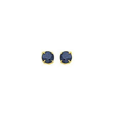 Clous d'oreilles saphirs