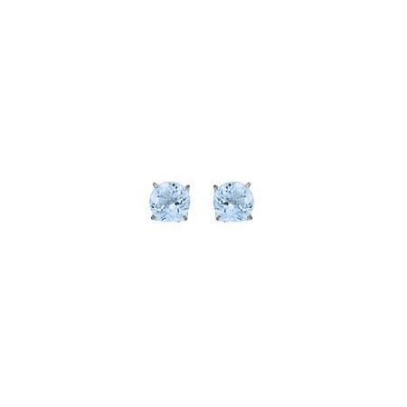 Clous d'oreilles topazes bleue de 4 mm