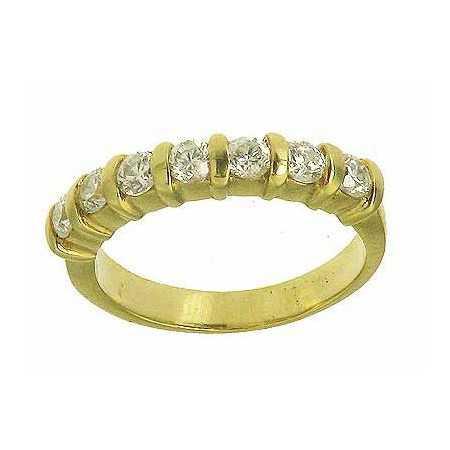 Bague alexine en or avec zirconias