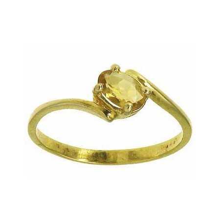 Bague anastasia en or avec citrine