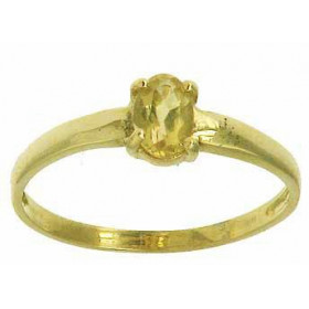 Bague auriane en or avec citrine