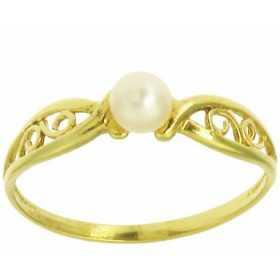 Bague clara en or avec perle de culture