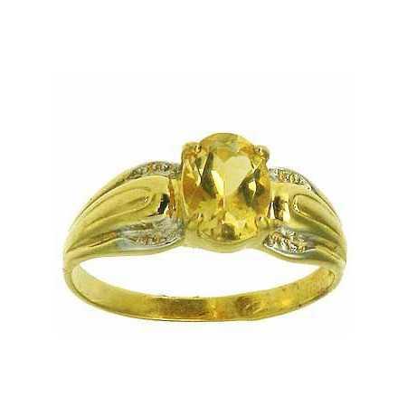 Bague clarisse en or avec citrine