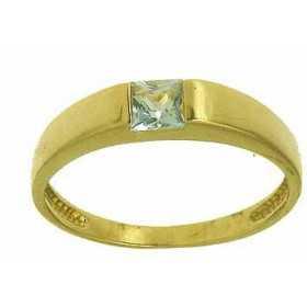 Bague divine en or avec topaze bleue