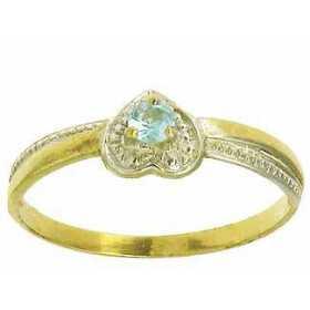 Bague elora en or avec topaze bleue