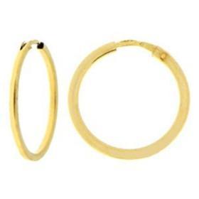 Créoles en or diamètre 1,2 cm.