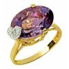 Bague fadila en or avec améthyste et diamants
