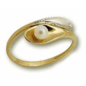 Bague gabriella en or avec perle de culture