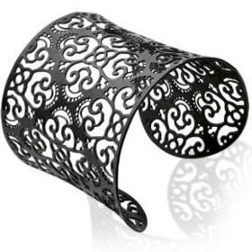 Bracelet acier noir très tendance