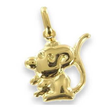 Pendentif souris plaqué or
