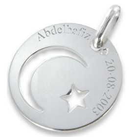 Médaille Islam en argent personnalisée