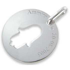 Médaille main de fatma en argent personnalisée