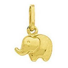 Pendentif breloque éléphant en or