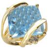 Bagues avec grosse pierre bleue ø 54