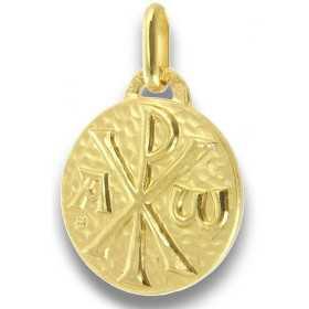 Médaille Chrisme plaqué or