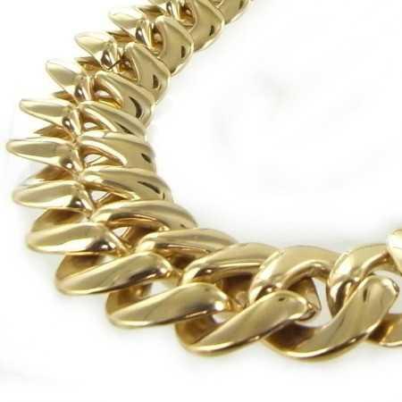 Très gros collier plaqué or