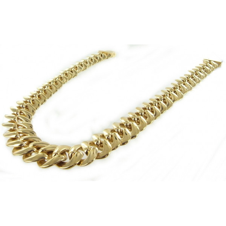 Très gros collier plaqué or - image 2