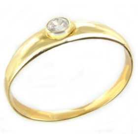 Bague jonc or avec oxydes de zirconium ø 54