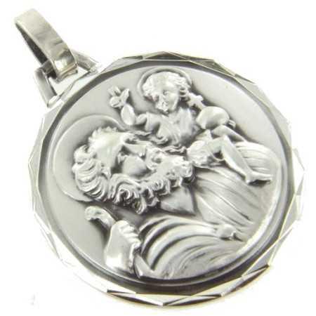 Médaille Saint Christophe en argent.
