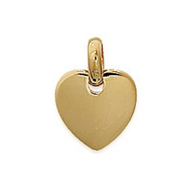 Petit pendentif coeur plaqué or