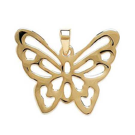 Grand papillon ajouré plaqué or