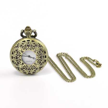 Montre à gousset métal bronze doré vieilli style 1800