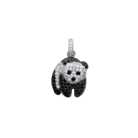Pendentif panda en argent.
