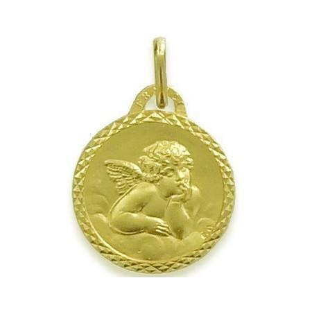 Médaille ange plaqué or.