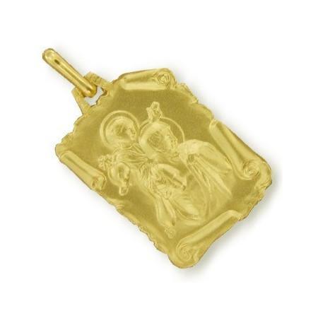 Médaille saint Christophe plaqué or.